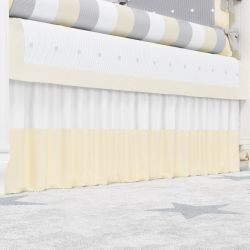 Saia de Berço Branco/Amarelo
