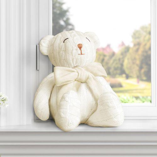 Urso Tricot Amarelo 42cm
