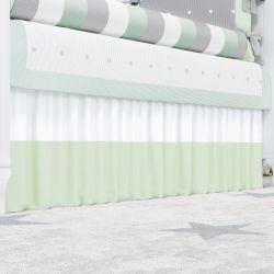 Saia de Berço Branco/Verde
