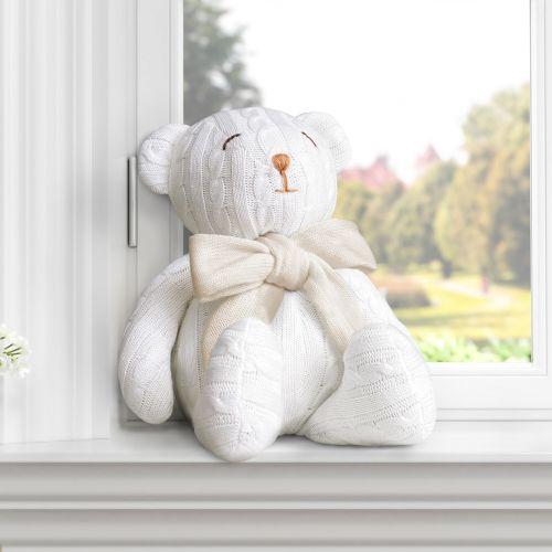 Urso Tricot Off White/Bege 42cm