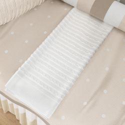Manta de Tricot Branca 1m