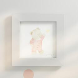 Quadro Ursinha e Estrela Salmão 20cm