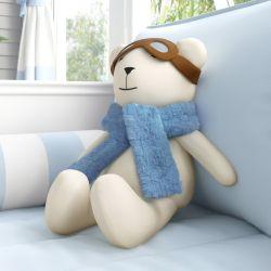 Urso Aviador Azul Bebê 50cm