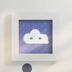 Quadro Nuvem Azul Marinho 20cm