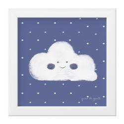 Quadro Nuvem Azul Marinho