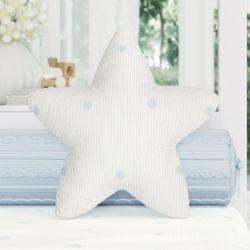 Almofada Estrela Tricot Poá Azul 30cm