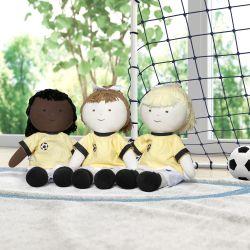 Bonecas de Pano Jogadoras de Futebol 3 Peças