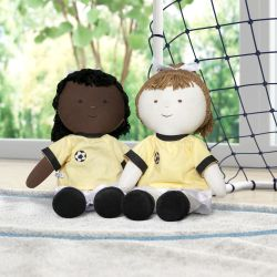 Bonecas de Pano Jogadoras de Futebol 2 Peças