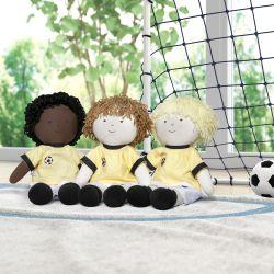 Bonecos de Pano Jogadores de Futebol 3 Peças