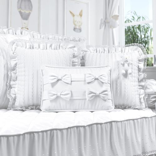 Almofadas Tricot Luxo Branco 3 Peças