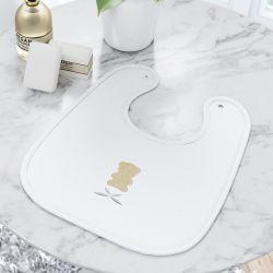 Babador Urso Luxo Branco