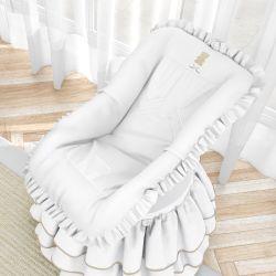 Capa para Bebê Conforto Urso Luxo Branco