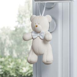 Enfeite para Puxador Urso Tricot Luxo Branco