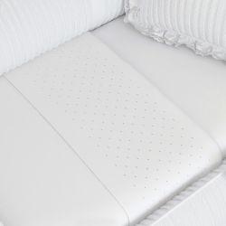 Jogo de Lençol Berço Bordado Luxo Branco