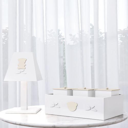 Kit Acessórios Urso Luxo Branco