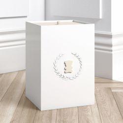 Lixeira Urso Luxo Branco