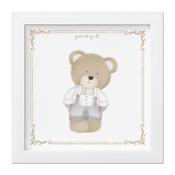 Quadro Urso Luxo Branco