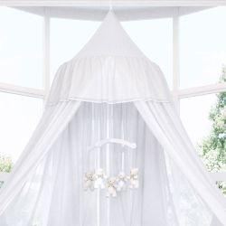 Tenda Dossel Voil com Renda Branco 3m