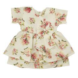 Vestido para Bebê Floral Candy Bege