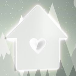 Luminária de Parede Casinha Coração
