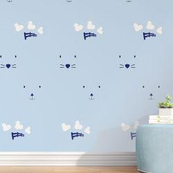 Papel de Parede Ovelhinhas Amiguinhos Azul 3m