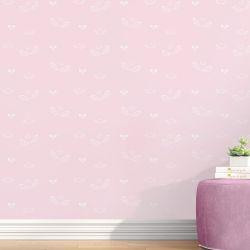 Papel de Parede Anjo e Laços Cor-de-Rosa 3m