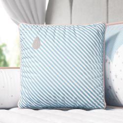 Almofada Listrada Gotinha Azul/Salmão 38cm