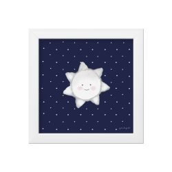 Quadro Estrela Sol Azul Marinho