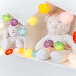 Fio de Luz Coração Colorido 3,05m com 20 Corações