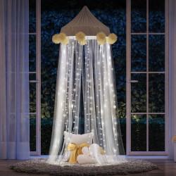 Cortina de LED Branco 3,4m com 200 Lâmpadas