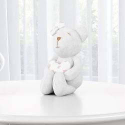 Ursa Branca com Coração Florido 15cm