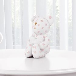 Ursa Florida com Coração Branco 15cm