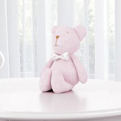 Ursa Rosa com Gravata 15cm