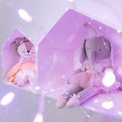 Fio de Fada Rosa 10m com 100 Lâmpadas LED