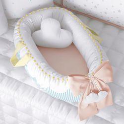 Ninho para Bebê Redutor de Berço Nuvem de Algodão