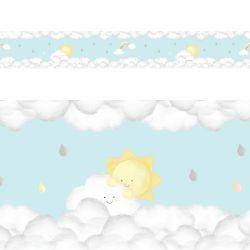 Faixa Adesiva de Parede Solzinho nas Nuvens