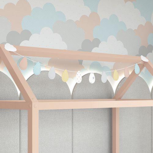 Varal Decorativo Gotinhas e Nuvens 1,60m