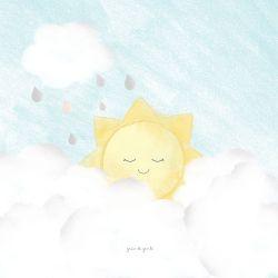 Quadro Solzinho nas Nuvens
