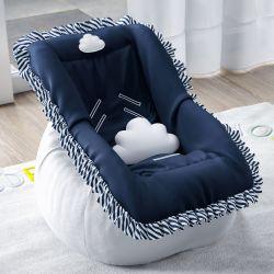 Capa de Bebê Conforto Nuvem de Algodão Azul Marinho