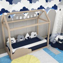 Quarto de Bebê Montessoriano Nuvem de Algodão Azul Marinho