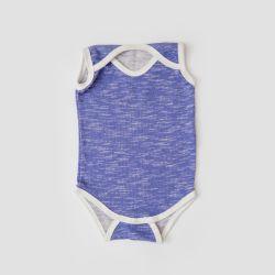 Body Bebê Curto Azul
