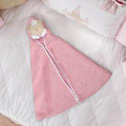 Toalha com Capuz Infantil Amiguinha Ursa Princesa 90cm
