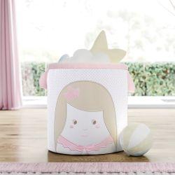 Cesto Organizador para Brinquedos Amiguinha Princesa 28cm