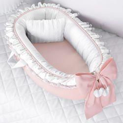 Ninho para Bebê Redutor de Berço Tricot Luxo Rosé