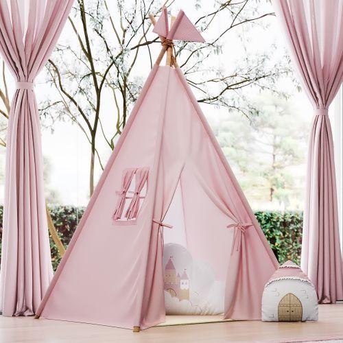 Cabana Quarto de Bebê com Bandeirinhas Rosa