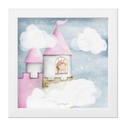 Quadro Amiguinha Princesa na Torre