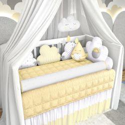 Kit Berço Nuvem de Algodão Amarelo
