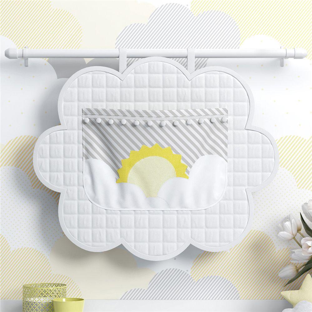 Porta Fraldas Sol na Nuvem de Algodão Amarelo Grão de Gente