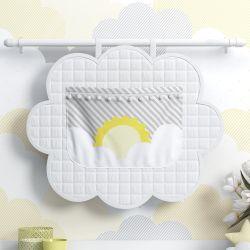 Porta Fraldas Varão Sol na Nuvem de Algodão Amarelo