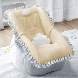 Capa de Bebê Conforto Nuvem de Algodão Amarelo